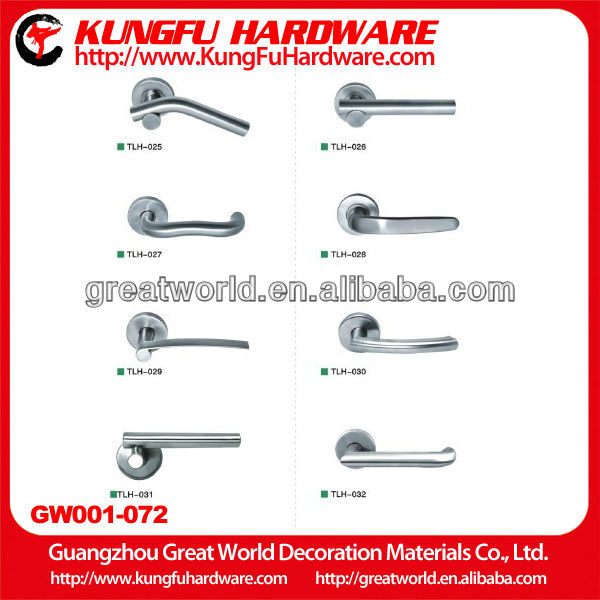 High-end Hot Sale stainless steel apartment fireproof solid lever type door handle