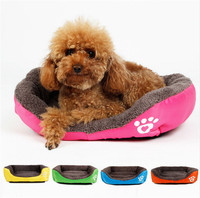Hot Sales Pets Cat And Dog Bed House Berber fleece Pet Bed