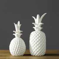 Matt white ceramic pineapple home decoration