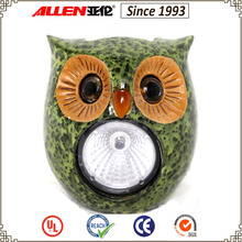 "3.3"" solar powered owl spotlight statue, small animal figurine solar spotlight"