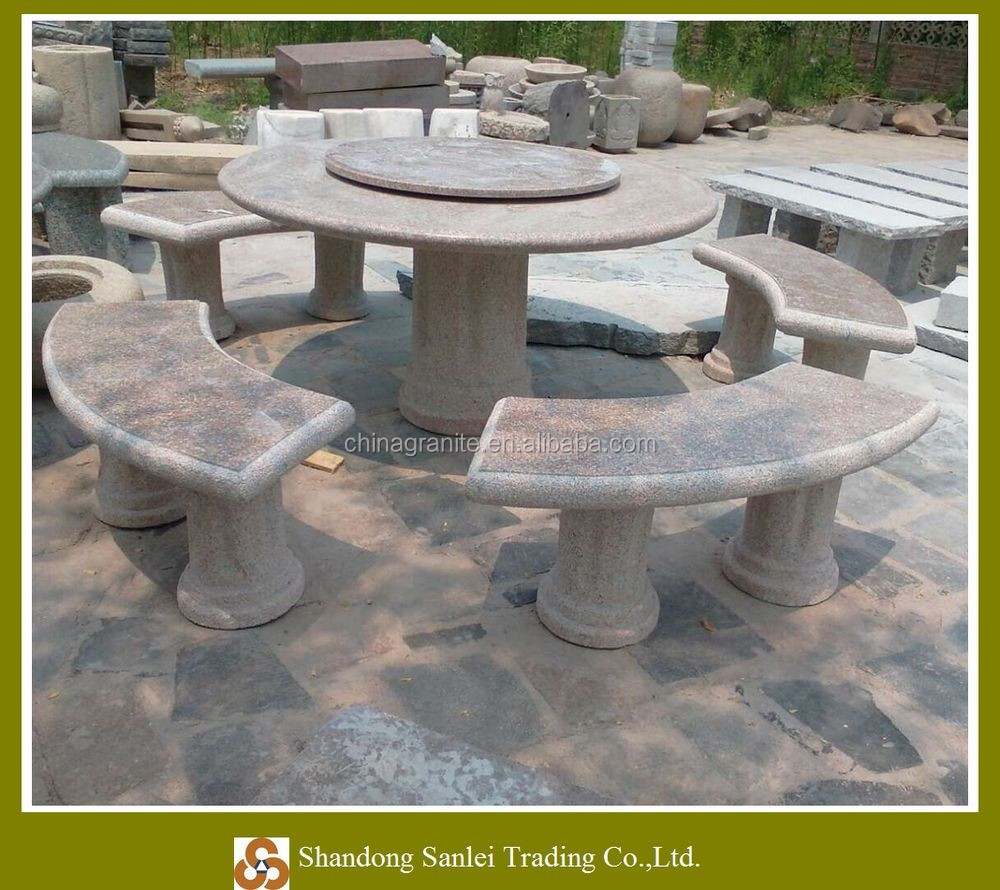 Jard n mesa de piedra y precios silla productos de piedra for Precio de piedras para jardin