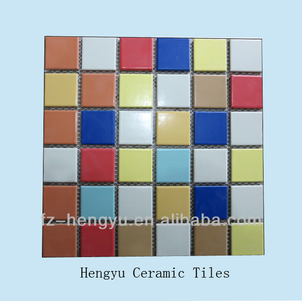 2018 new design mini wall outdoor color pool floor tiles