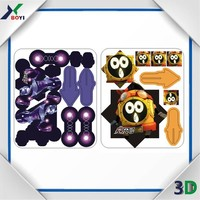 new popularp plastic PP cards, 3d puzzle diy toy, spinning top card