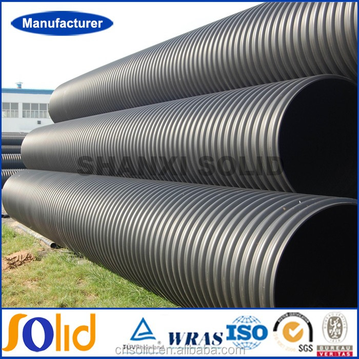 Large Diameter Construction Polyethylene HDPE Double Wall Corrugated Pipe