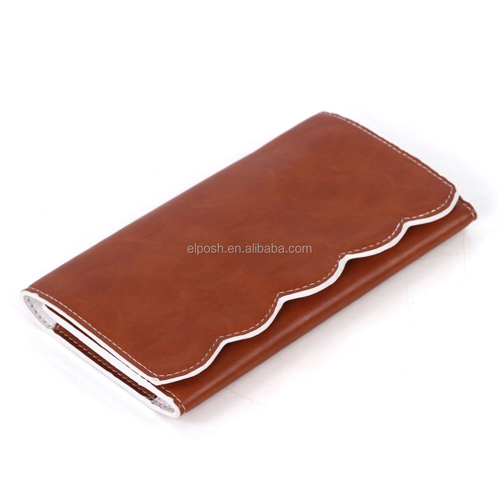Wholesale Monogrammed Leather Scallop Wallet