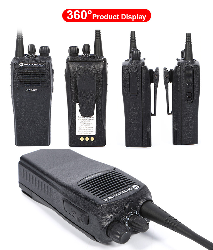 GP3688 VHF/UHF 16 Channel Professional Walkie Talkie