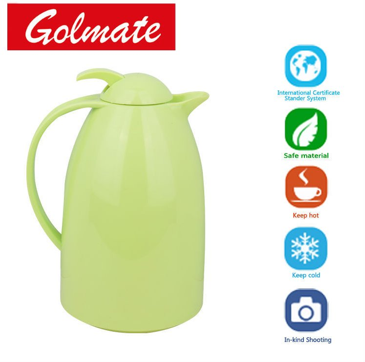 Glass vacuum jug coffee pot water bottle with plastic body 1.0L