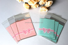 OPP Plastic package bag Lovely Bow Design Cake gift Packages Candy Pack paper