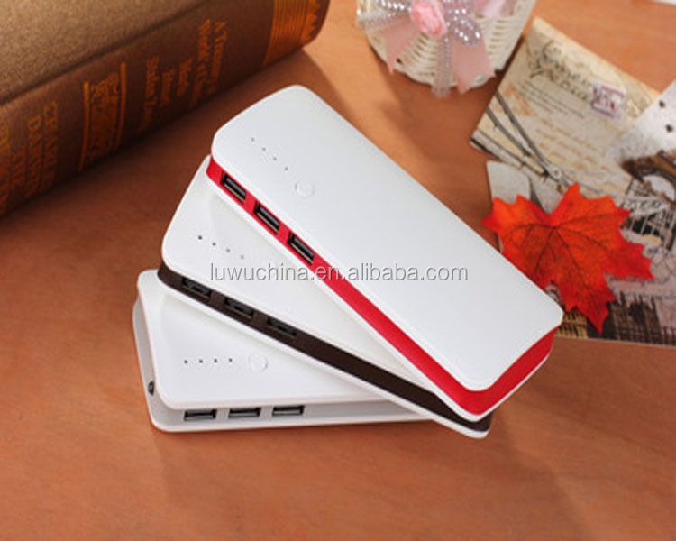 2016 new products,high quality large capacity 10000mah polymer dual output power bank