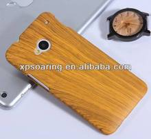Wooden skin hard cover case for htc one M7