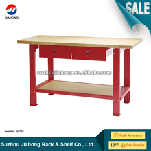 2 Drawers Heavy Duty Workbench with Wood Top