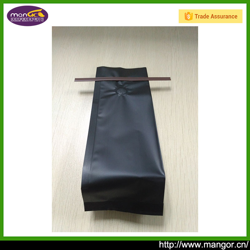 Shenzhen Manufacturer Eight Sides Sealing Tin Tie Plastic Bag For Coffee Powder Reseal