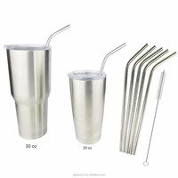 2016 hot sale 18/8 Stainless Steel Straws for RTIC 30 oz Tumbler Ramblers Cups