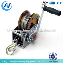 Marine Portable Wire Rope Manual Hand Crank Winch