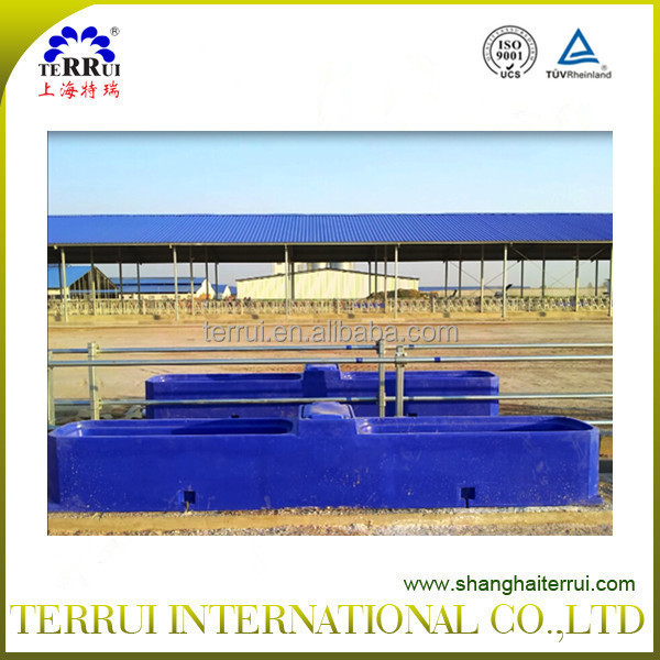 4m large plastic waterer trough for dairy cattle
