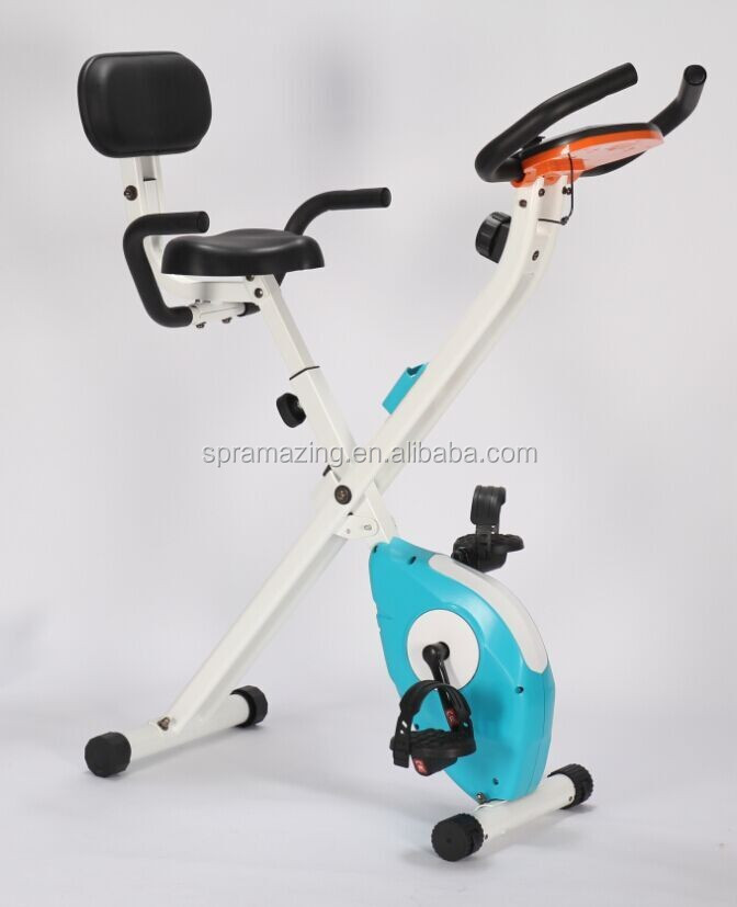 New design X Shaped magnetic upright bike for kids exercise equipment AMA-301S