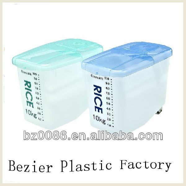 customized PP plastic rice storage containers with OEM logo