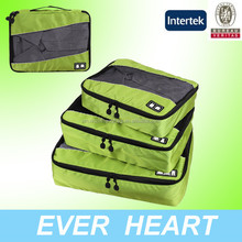 3 pcs clothes packing cubes,sky travel luggage bag