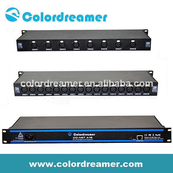 Colordreamer dmx 8&16universes nightclub equipment artnet controller