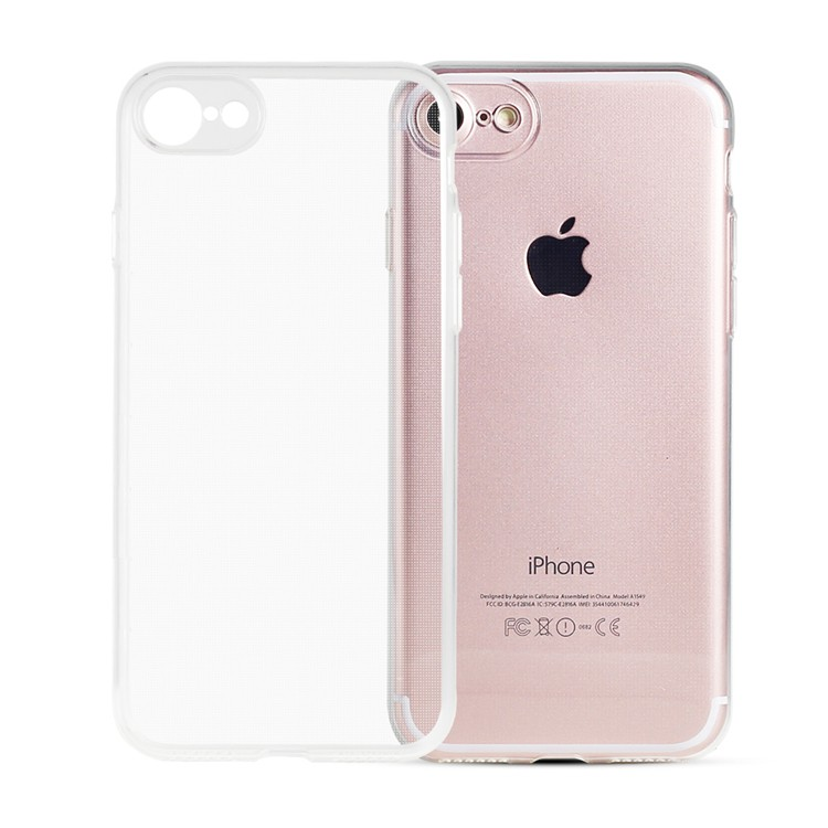 Clear ultra thin transparent TPU case for iPhone 7 TPU phone case
