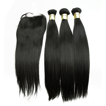 Doube Weft Good Feedback Brazilian Remy Body Wave #1 Color