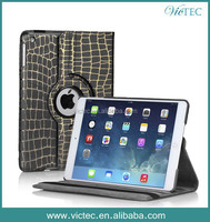 Bamboo grain for ipad 2 3 4 rotary cooling leather case