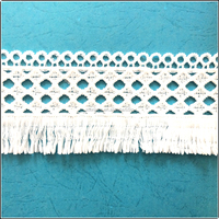 Polyester machine made crochet lace fabric