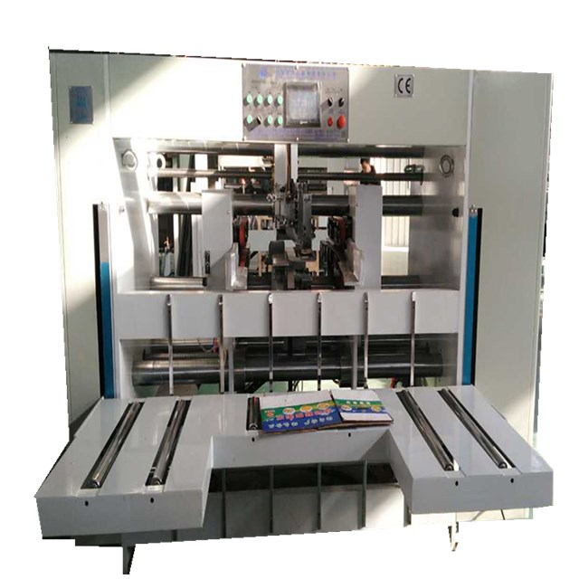Corrugated carton box stapler machine