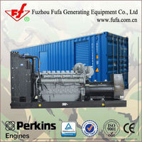 1200KVA Containerized power generator price with uk Perkins Engine 4012-46TWG2A