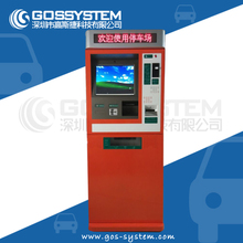 Automatic payment kiosks for parking fee multinational currency optional