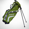 wholesale newest nylon PU material leather golf stand bag for golfer