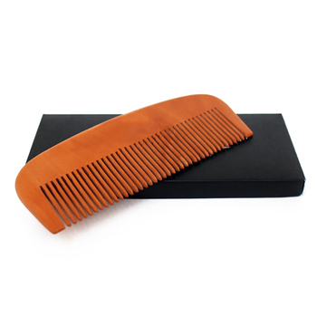 WB200-40 Custom Printed Combs Peach Wooden Comb Beard Men's Comb
