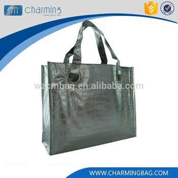 Modern style custom design wenzhou gray non woven bag shoppimng bag