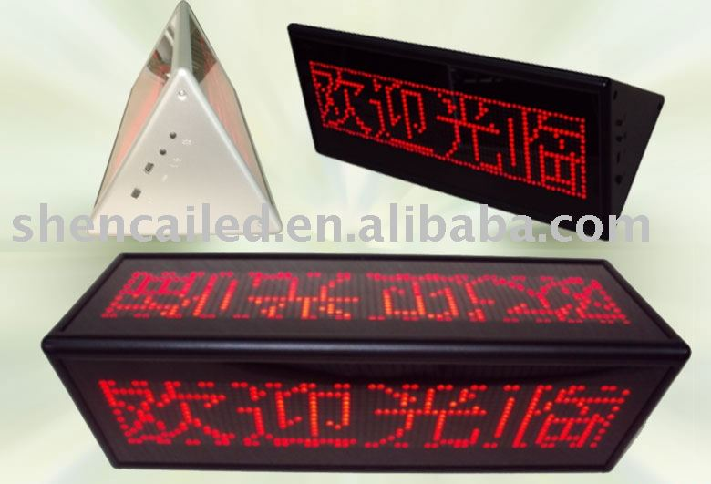 mini transparent led display with Double-sided display Triangle