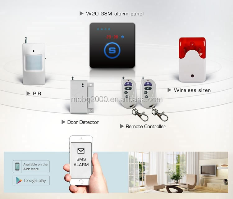 W20 gsm home alarm security system