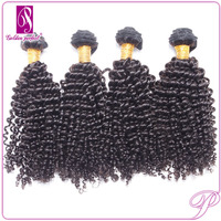 Fast Delivery 1# Color Kinky Curly Human Hair Meche