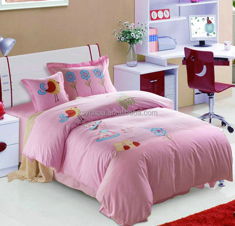 Embroidery children bedding set cartoon