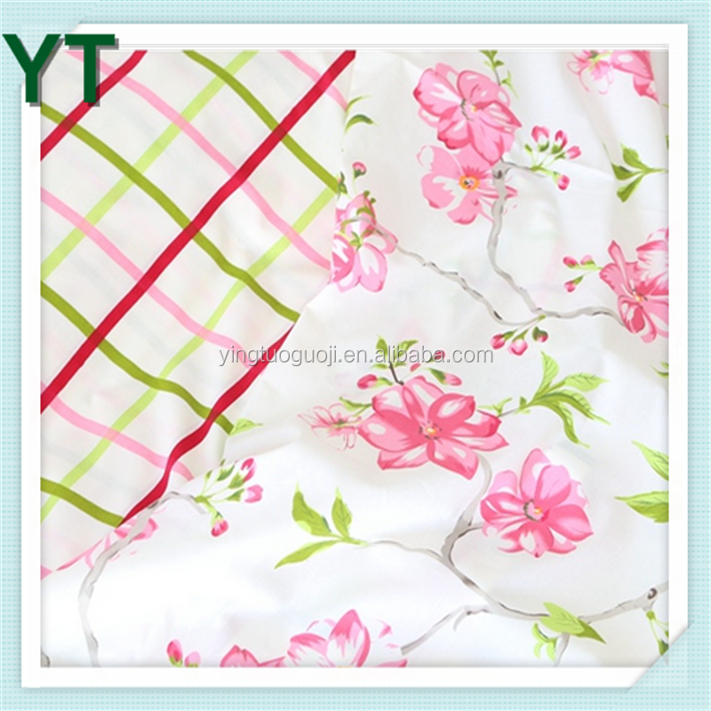 New Fashion Flower Design Printed Cotton Bedsheet Fabric