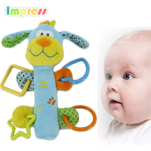 Wholesale price infant soft aniaml baby plush stuffed toy baby pull string musical toy plush