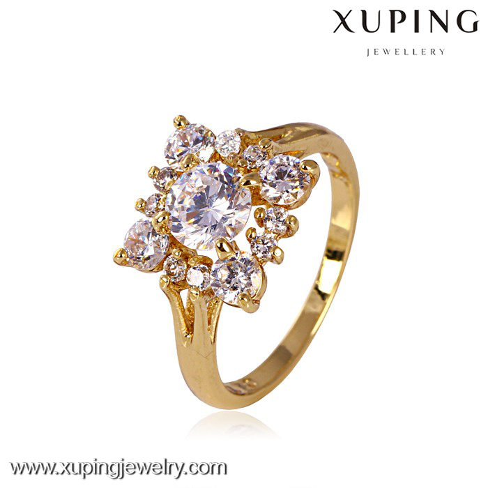 11228-xuping finger jewelry white stone pukhraj big stone ring designs