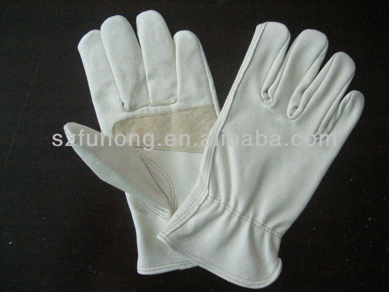 full grain leather with reinforced palm for genereal driver working glove