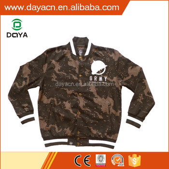 European hot sale fashion varsity fleece hoody jackets