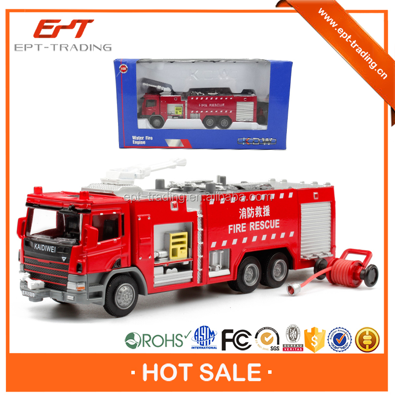 Top quality 1 50 scale mini toy metal fire truck toy for sale