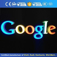 Front And Back Lit Alphabet Sign Shop Light Up Letter Illuminated Advertising Signage