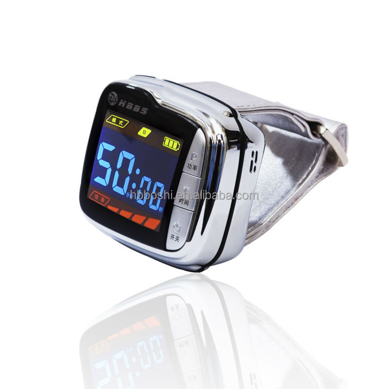 Made in china no drug no pain physical blood cleaner wrist watch home use 650nm lllt Laser diabetes medical device
