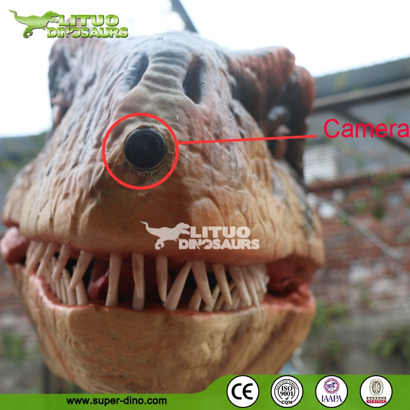 Amusement Park Realistic Dinosaur Costume With Camera