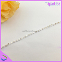 China Wholesale Light Weight Transparent Decorative Plastic Chain For Clothing