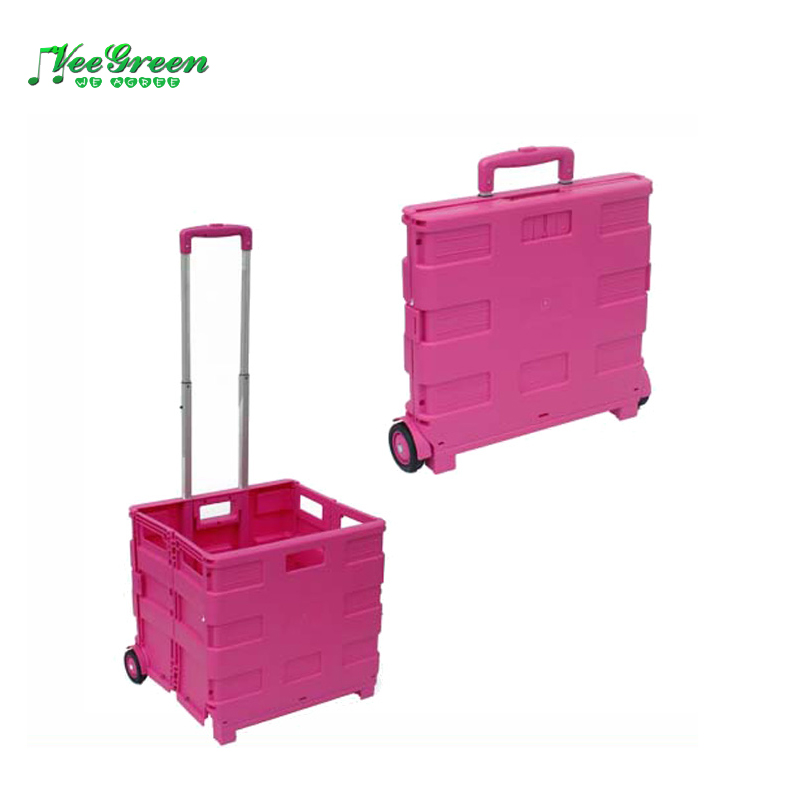 Folding Shopping Trolley On Wheels/Portable Supermarket Trolley for Sale
