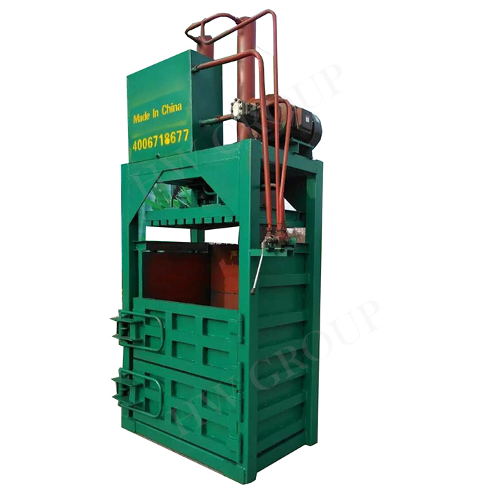 Hydraulic Driven Recycling Vertical Waste Paper Plastic Film Baler