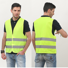 Yellow vest reflection Hot selling <strong>safety</strong> work yellow/orange high visibility vest with pockets